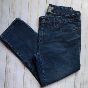 J. Jill Crop Stretch Skinny Jeans 4 Medium Wash